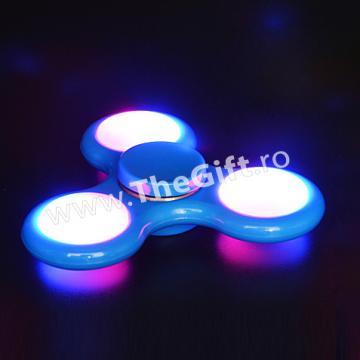Jucarie antistres Fidget Spinner, cu lumini si senzori
