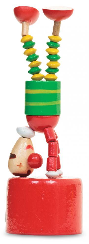 Jucarie din lemn clown de la Plasma Trade Srl (happymax.ro)