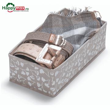 Organizator textil pentru sertare/dulapuri-Bouquet 28x14x9cm de la Plasma Trade Srl (happymax.ro)