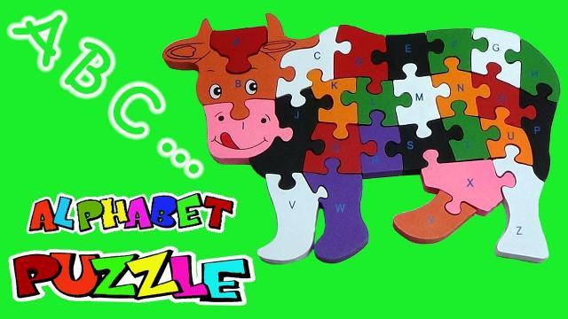 Puzzle 3 D din lemn, alfabet de la Thegift.ro - Cadouri Online