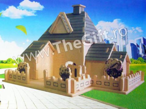 Puzzle 3D lemn Sweet House de la Thegift.ro - Cadouri Online