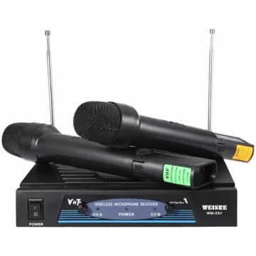 Set de 2 microfoane wireless VHF Weisre WM-03V