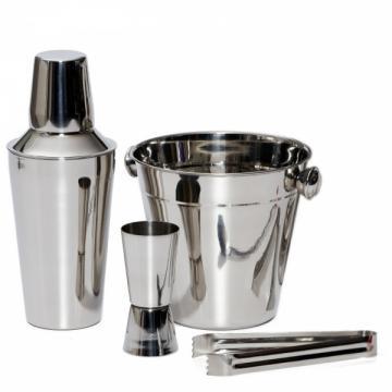 Set 4 piese pentru cocktail, frapiera si shaker din inox de la Www.oferteshop.ro - Cadouri Online