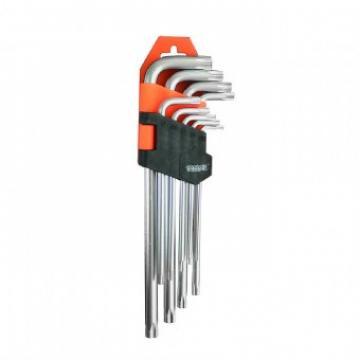 Set chei torx extra lungi, L, Gadget 390157, Cr-V, 9 buc de la Viva Metal Decor Srl
