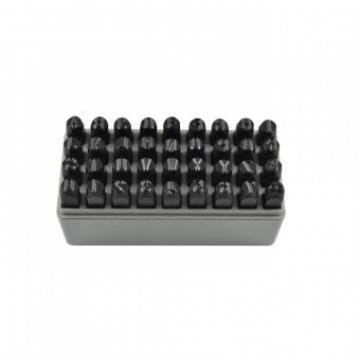 Set poansoane litere si cifre JBM JB-53119, 36 piese, 8 mm