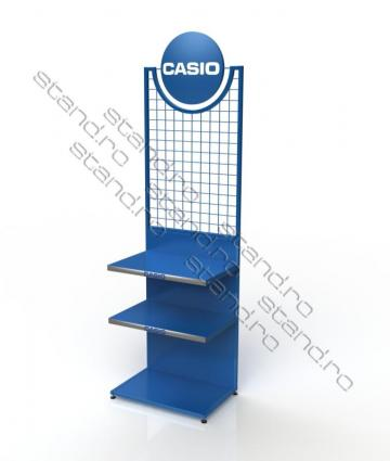 Stand expozitional metalic baterii Casio 0026