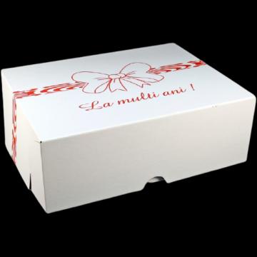 Cutii albe tort CT8 (51x61x16cm) 25 buc/set de la Cristian Food Industry Srl.