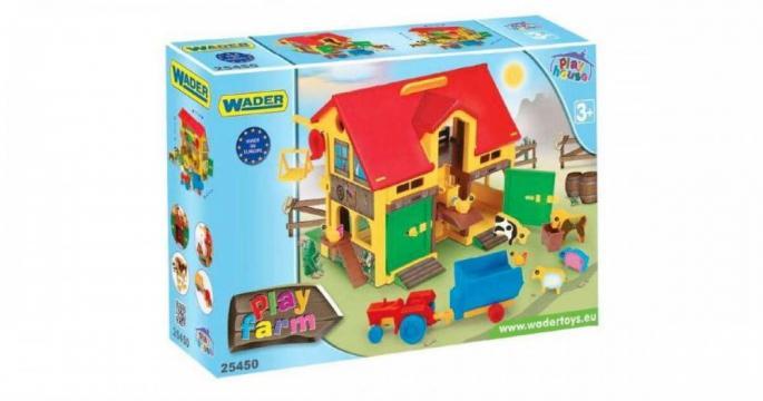 Set de joaca Ferma cu animalute domestice Wader Play House