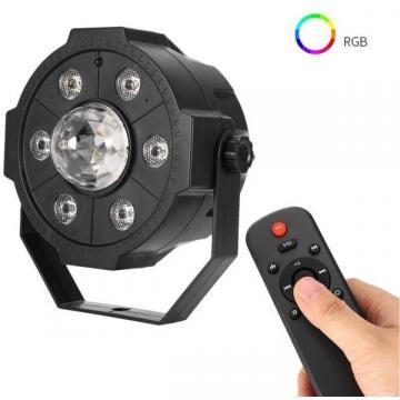 Proiector LED Par Light 6 x LED cu glob RGB, stick USB
