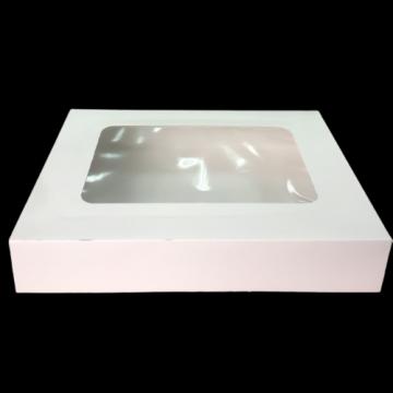 Cutie alba carton cu fereastra 22x22,5x5cm, 25 buc/set de la Cristian Food Industry Srl.