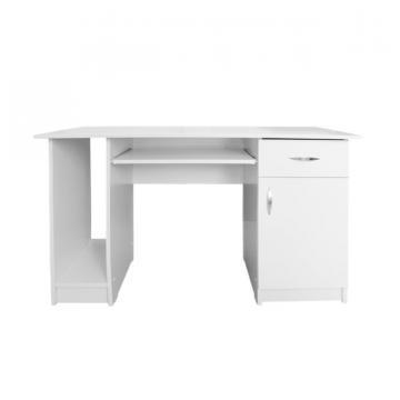 Birou Nero 1 usa si 1 sertar alb de la CB Furniture Srl