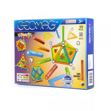 Joc de constructie cu piese magnetice, Geomag Confetti de la Arca Hobber Srl