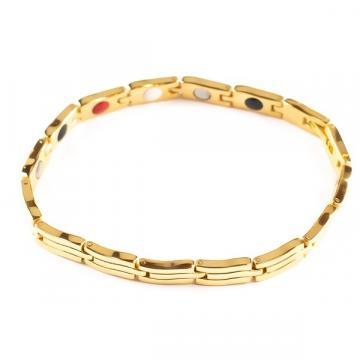 Bratara magnetica din otel inoxidabil, gold, TY051QJ de la Arca Hobber Srl