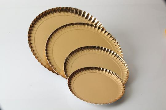 Farfurii groase carton auriu 31cm de la Cristian Food Industry Srl.