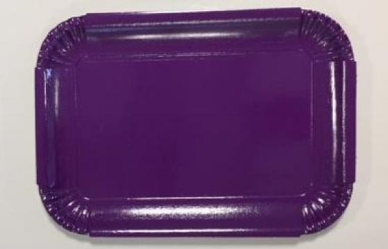 Tavite groase din carton mov N.5=4B (20,4x28,8cm) de la Cristian Food Industry Srl.