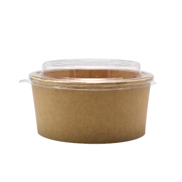 Bol carton salata kraft natur 550cc, 300 buc/bax de la Cristian Food Industry Srl.