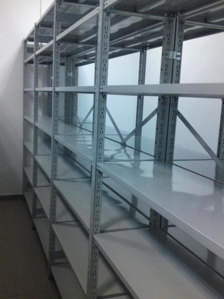 Rafturi metalice cu polite 500x1000x2500H - 5 niveluri