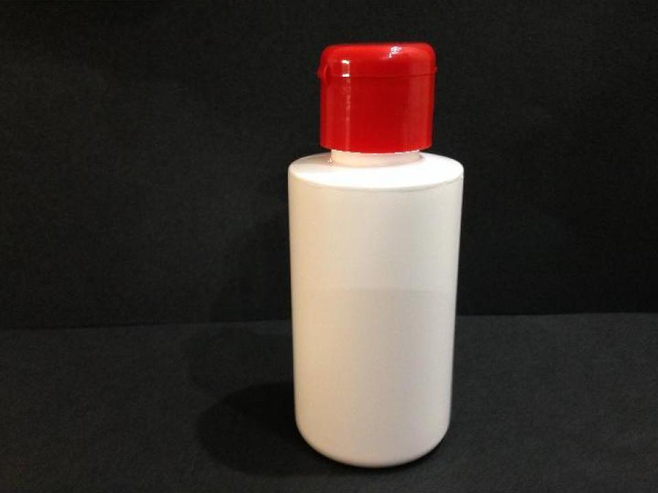 Flacon plastic alb 100 ml cu dop flip top
