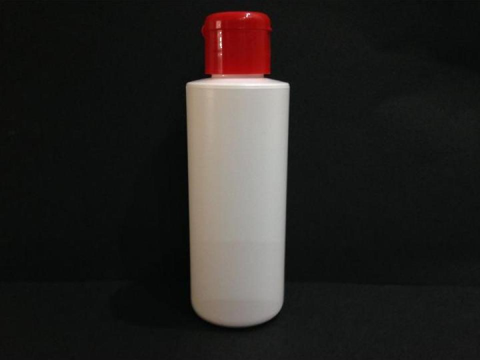 Flacon plastic alb 135 ml cu dop flip top
