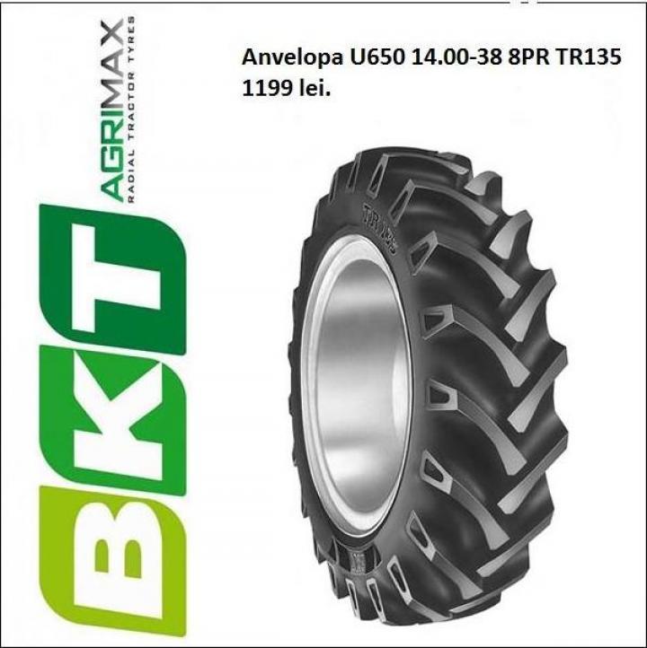 Anvelopa tractor U 650, 14.00-38, 8 pliuri