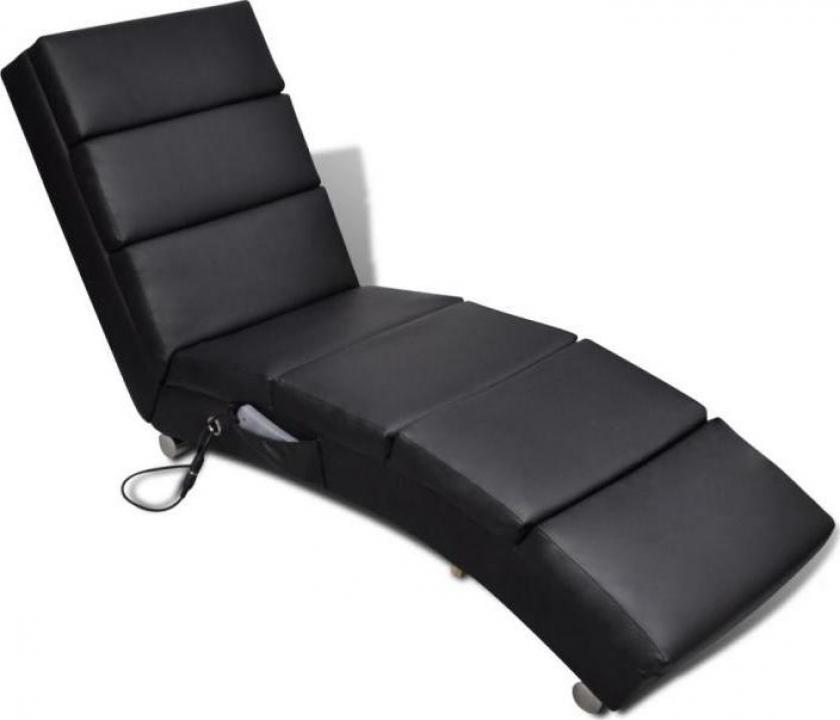 Fotoliu de masaj electric negru