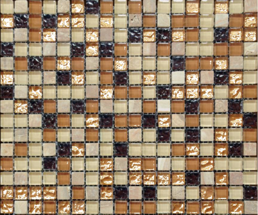 Mozaic din sticla si marmura MMX007