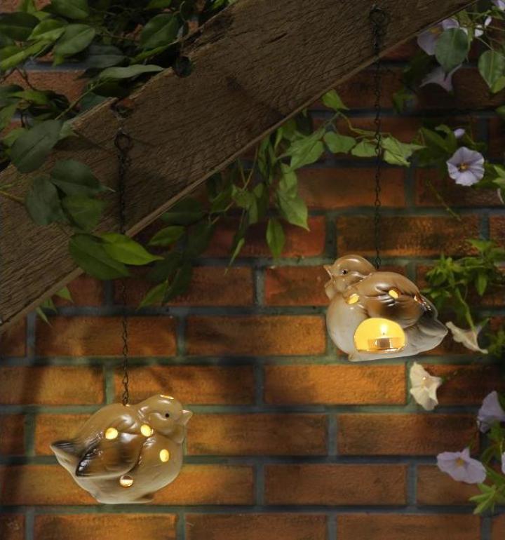 Lampi de gradina cu lumanare, 2 buc