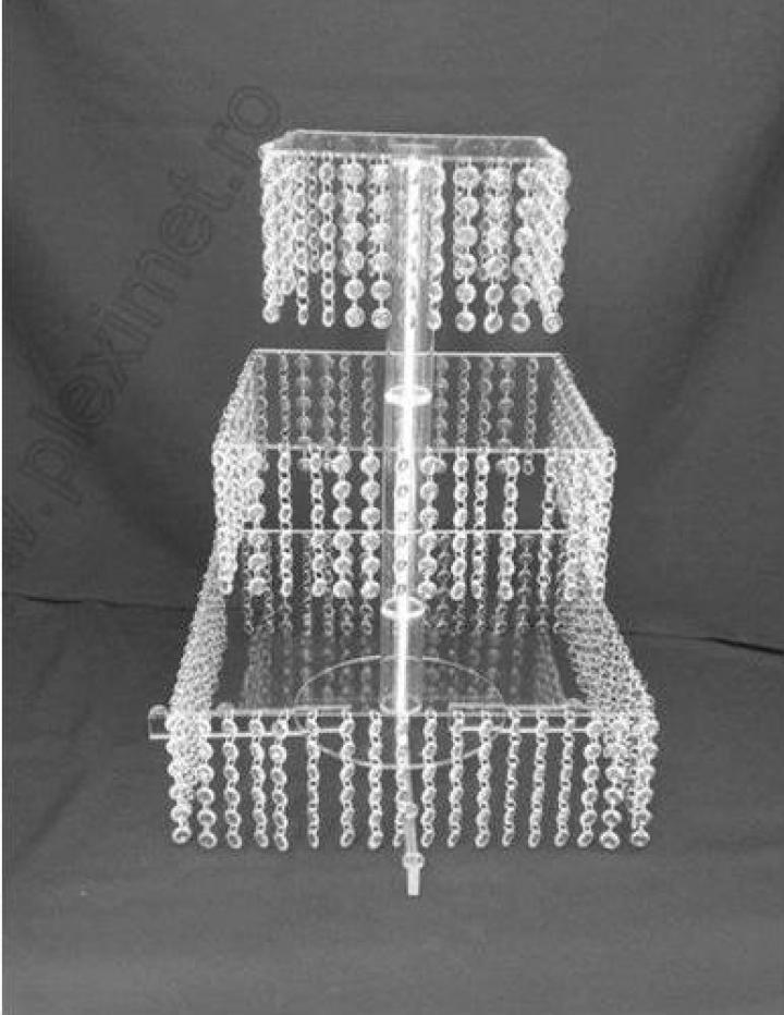 Suport de tort patrat cu cristale acrilice SPEv 31.1 A
