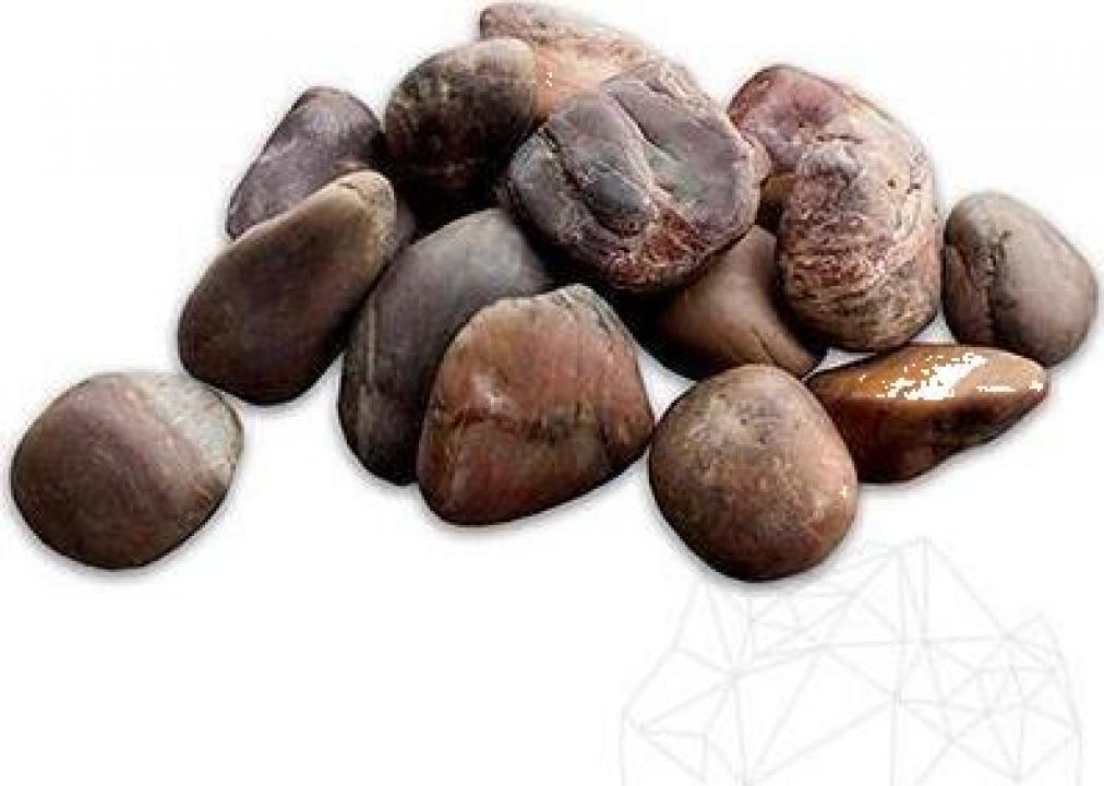 Piatra naturala ornamentala Pebble Brown Polished Sac 20 kg