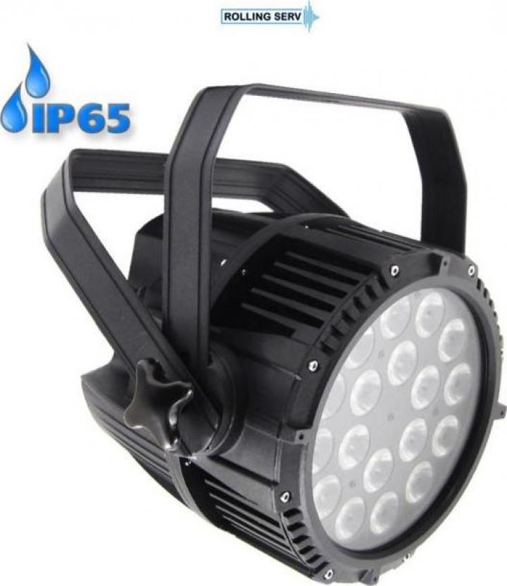 Proiector LED PAR 64 18x10W RGBW 4in1 IP65 PFC