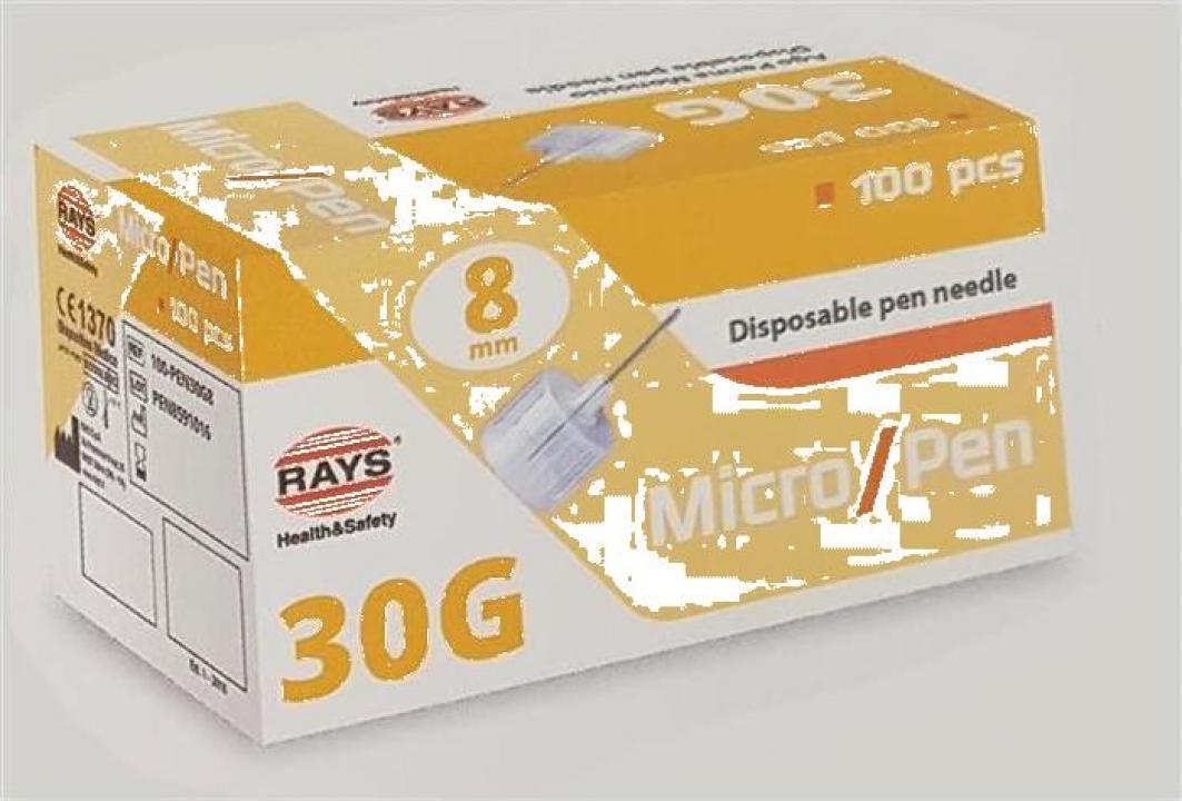 Ace insulina pen Rays - 30g (8mm)