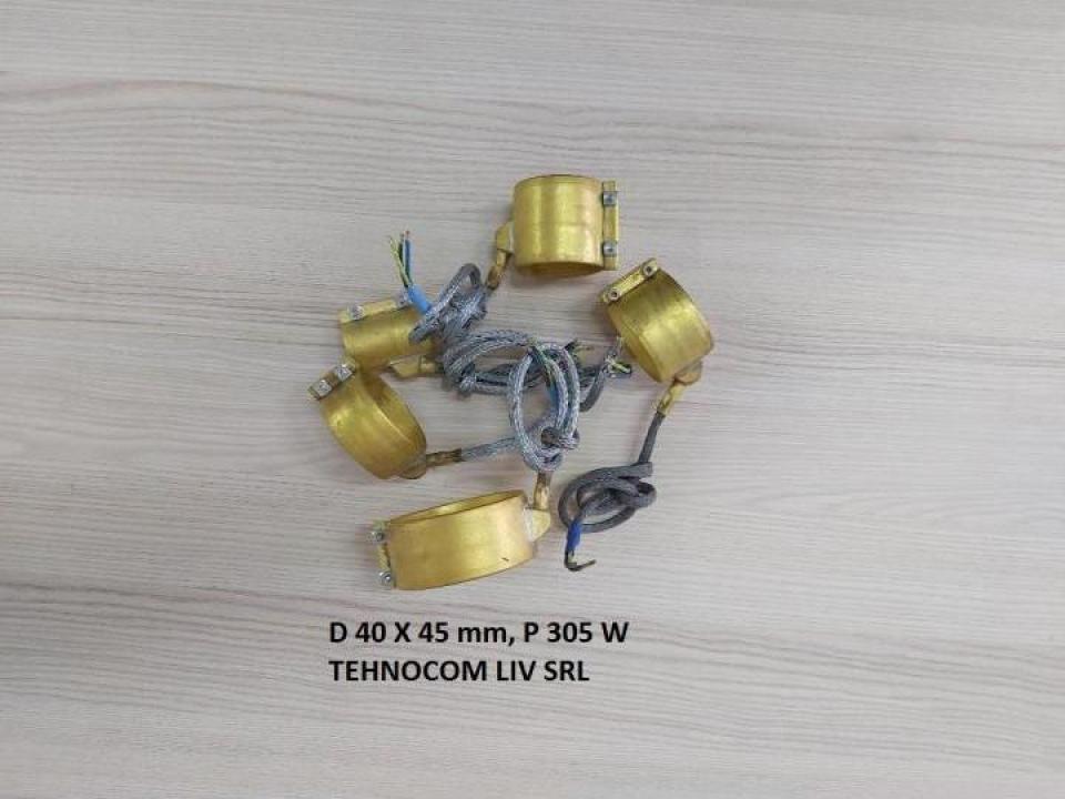 Rezistenta banda D 40 mm, L 45 mm, P = 305 W