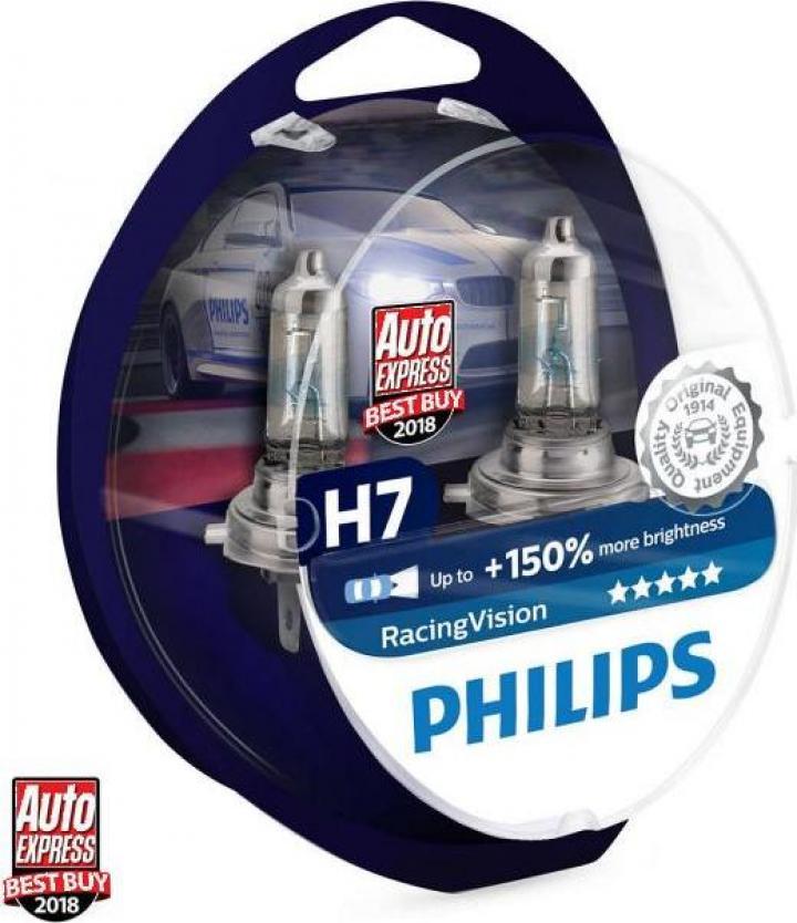 Bec halogen H7 Philips Racing Vision +150%