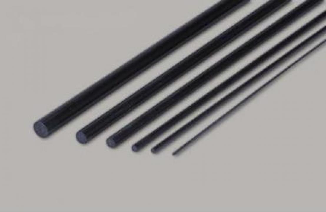 Tija rotunda carbon D1.5 x 1000 mm