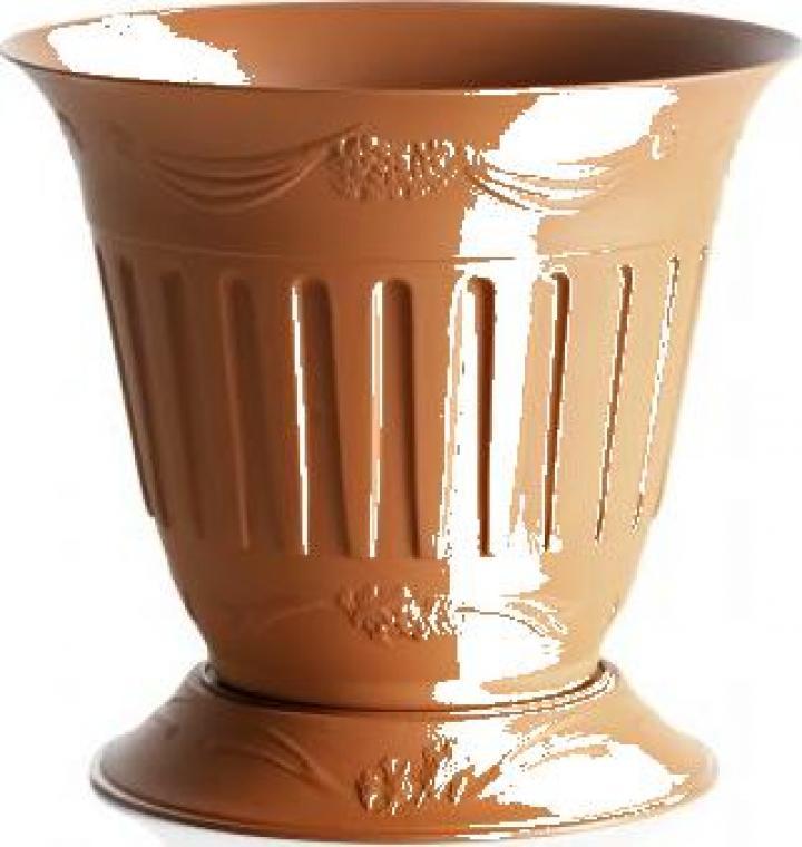 Ghiveci cu farfurie 20cm-Etika-Terracotta