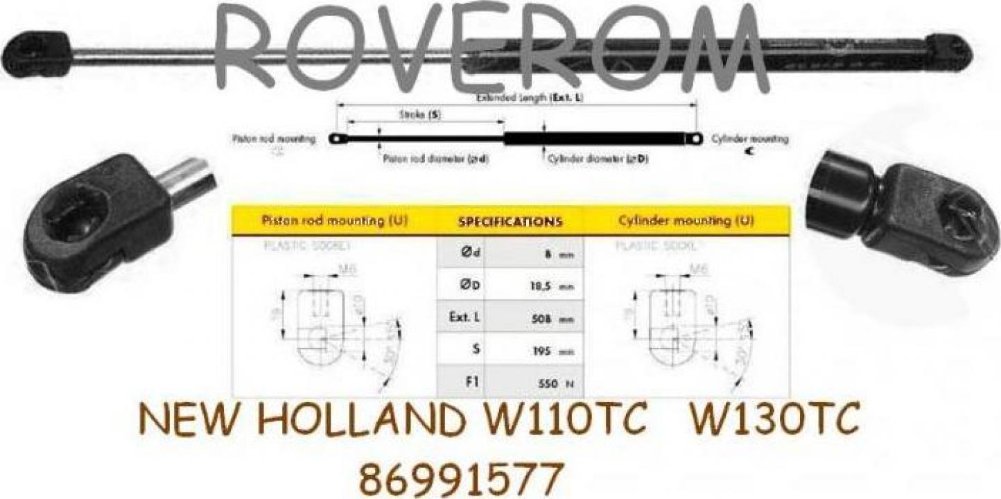 Amortizor capota motor New Holland W110TC, W130, W130TC