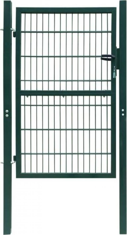 Poarta 2D pentru gard (simpla) 106 x 210 cm, verde