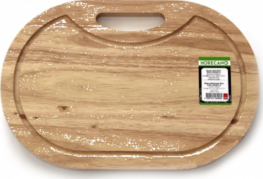 Platou oval servire din lemn Raki 43cm
