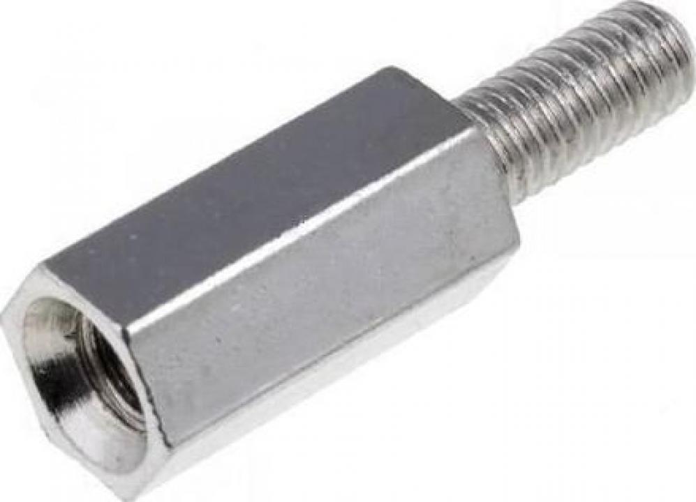 Distantier metalic filet int/ext M3 x 10 mm (10 buc)