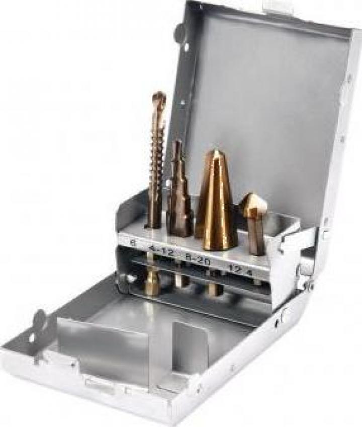 Set 4 burghie pentru metal Yato YT-44705