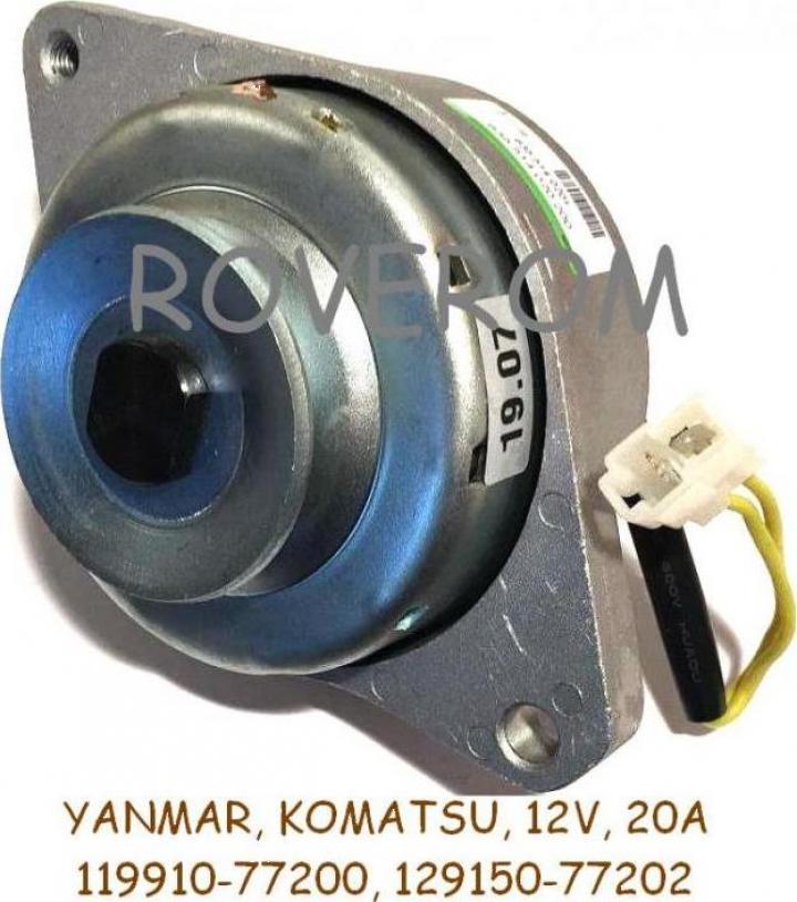 Alternator (dinam) Yanmar, Komatsu, 12V, 20A