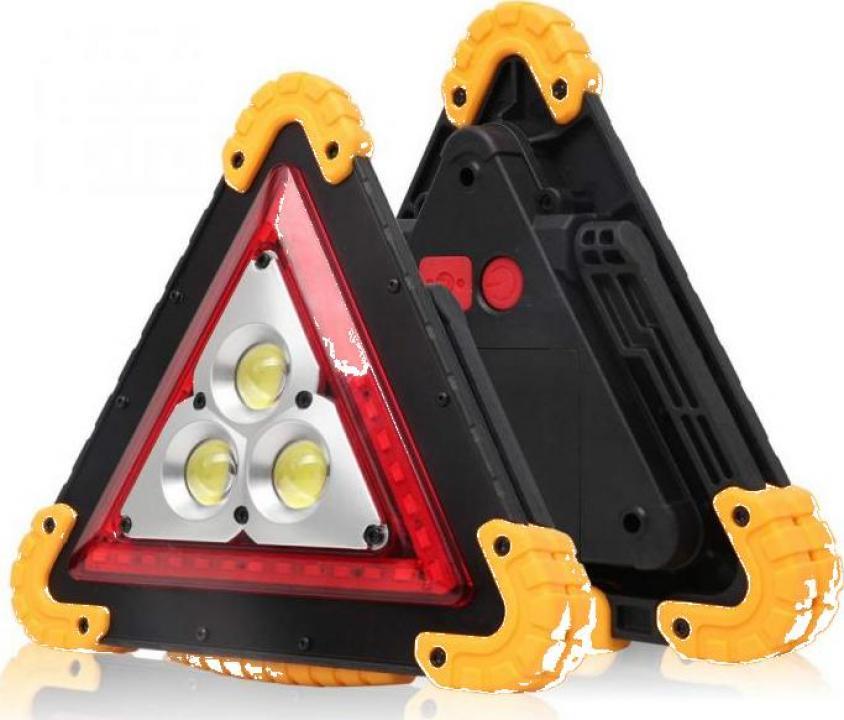 Lanterna de avertizare - triunghi reflectorizant