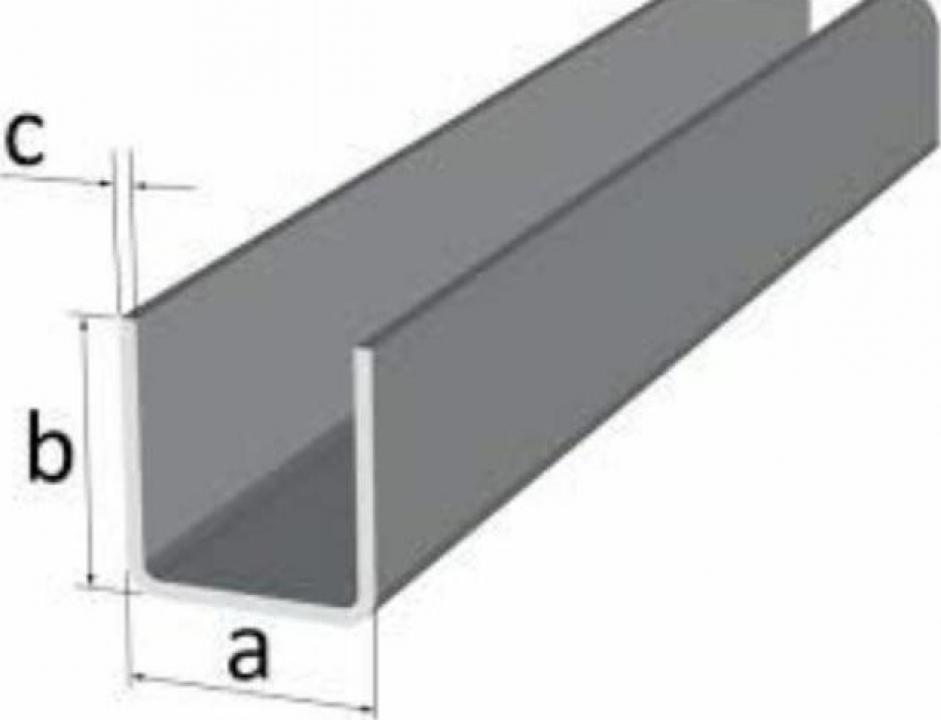 Profil U aluminiu canal alama inox cupru duraluminiu 6060 T6