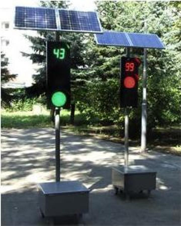 Semafoare mobile cu cronometru pentru alternarea trecerii