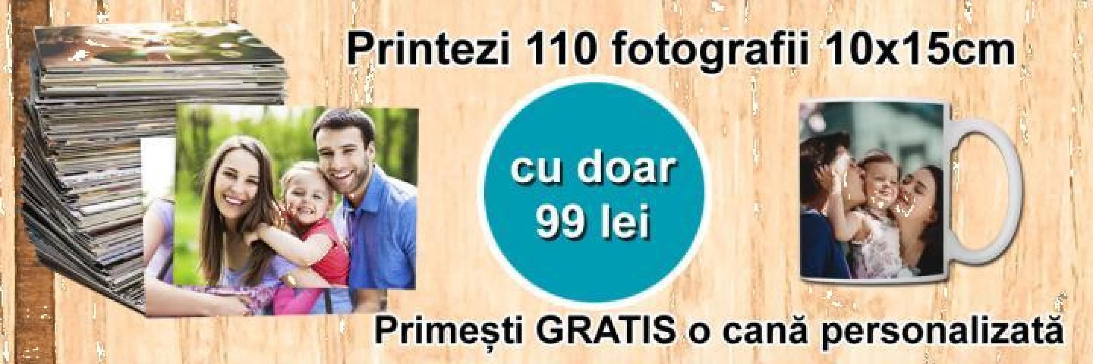 Cadou 110 poze cu cana personalizata