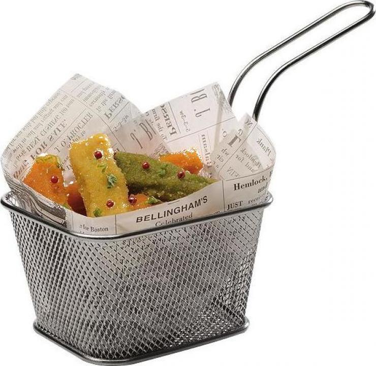 Cos mini-fry din inox, 10x8.5 cm