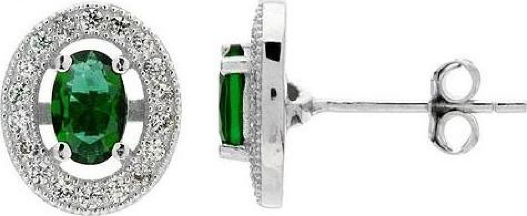 Cercei din argint 925 cu cristale Emerald Sky