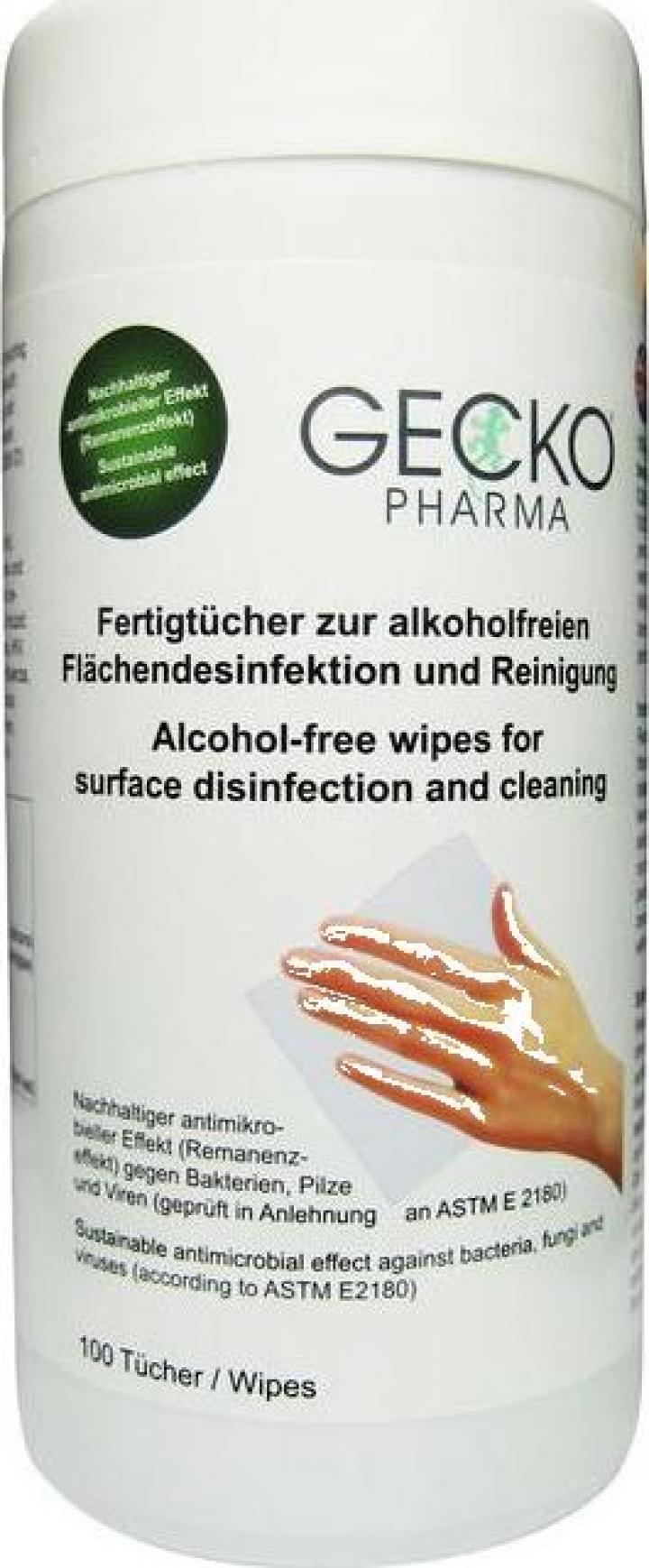 Dispenser servetele dezinfectare suprafete Gecko
