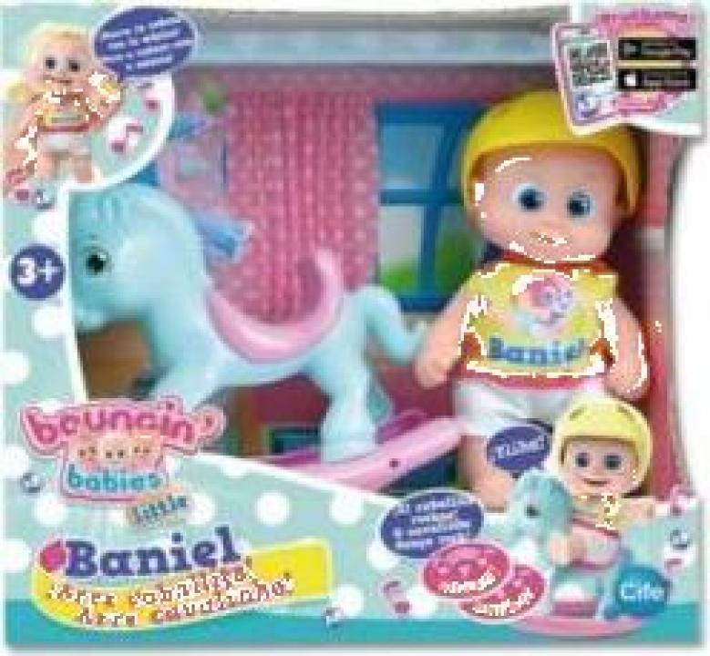 Jucarie Baniel Baby pe calut balansoar Bouncing Babies
