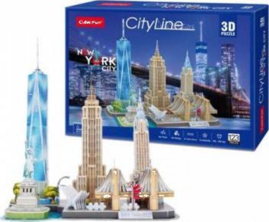 Puzzle 3D CubicFun - City Line New York 123buc
